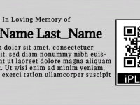 Aluminium iPlaque Memorial Plaque
