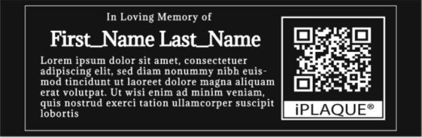 Acrylic iPLAQUE Memorial Plaque