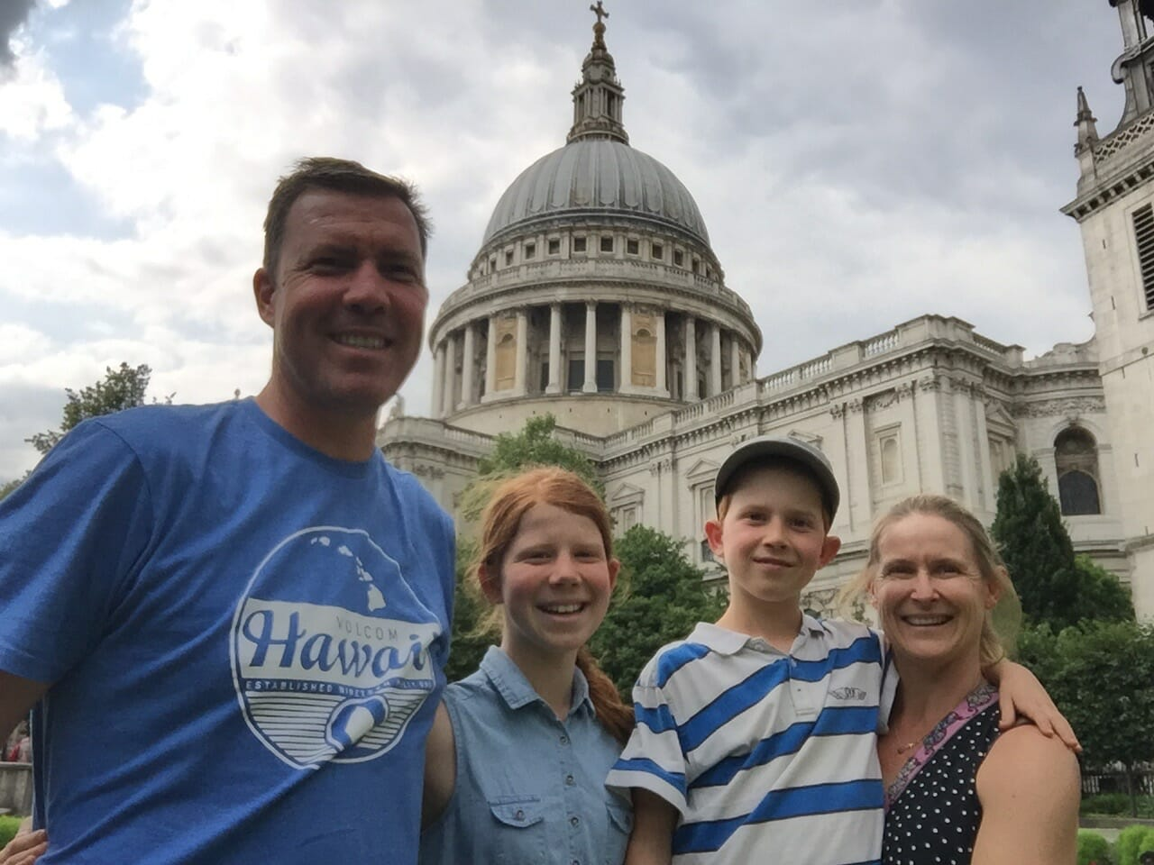 JP with family in London