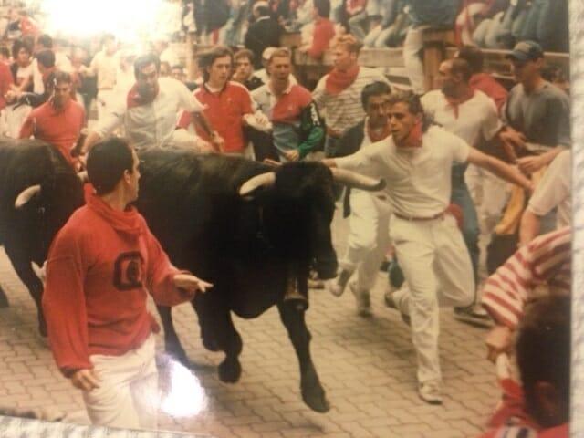 Pamplona running with the bulls